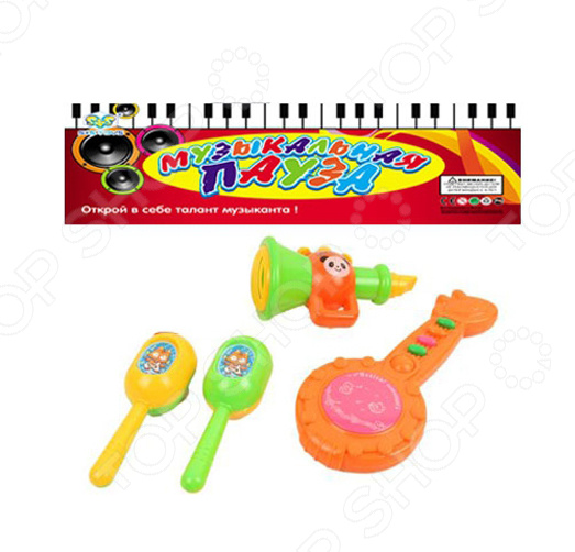 Набор музыкальных инструментов S+S Toys СС75451 игрушки для ванны tolo toys набор ведерок квадратные