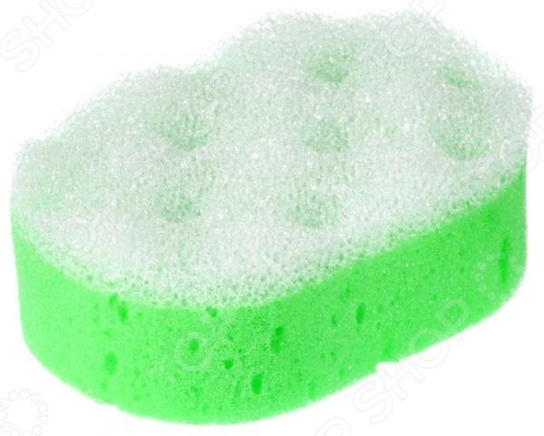 Мочалка c массажным слоем Банные штучки 32604 мочалка банные штучки цвет зеленый с массажным слоем 13 х 9 х 3 5 см