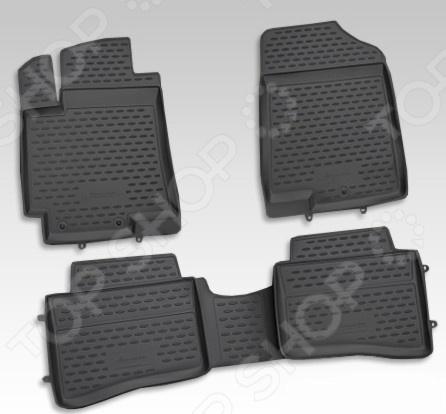 цены Комплект ковриков в салон автомобиля Novline-Autofamily Hyundai i30 2012