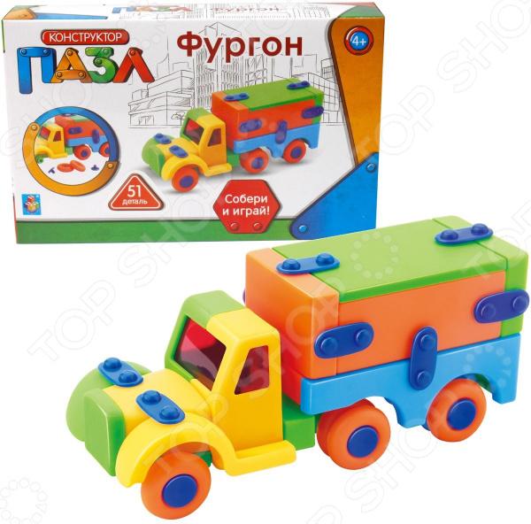 Пазл-конструктор 1 Toy «Фургон» конструктор bela urban фургон пиццерия 261 дет 10648