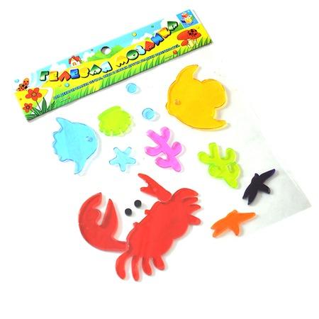 Купить Наклейки гелевые 1 Toy «Цветы и морские животные»