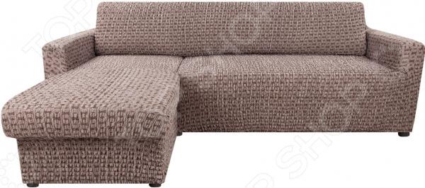 натяжной чехол на угловой диван с выступом слева еврочехол сиена сатурно Натяжной чехол на угловой диван с выступом слева Еврочехол «Сиена Сатурно»