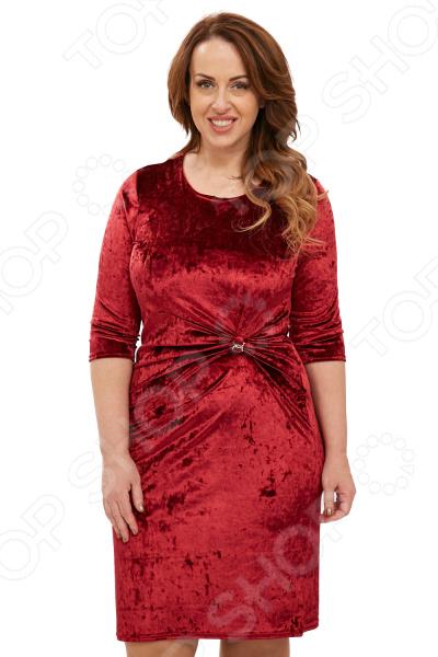 Платье ТРЕНД «Бархатный ангел». Цвет: бордовый блуза тренд радужный блеск цвет бордовый