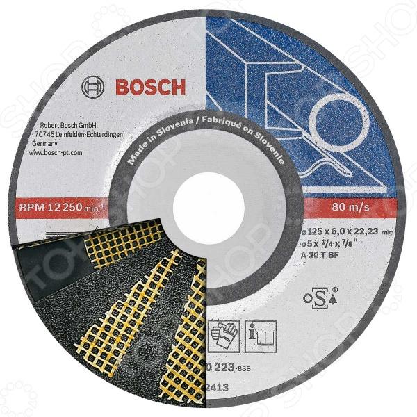 Диск шлифовальный обдирочный Bosch 2608600223 диск шлифовальный с липучкой р40 d 125 мм 5 шт перфорированный bosch профи