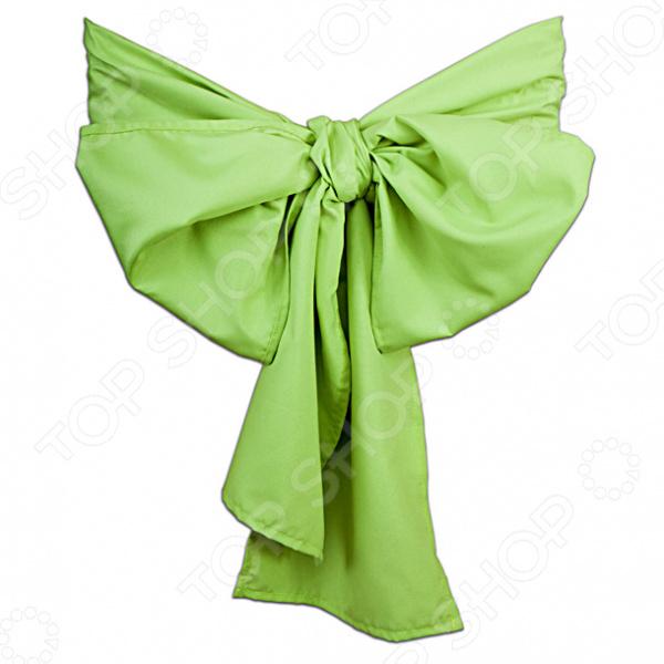 Бант на стул Еврочехол «Микрофибра. Зеленое яблоко»