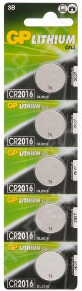 Набор батареек-таблеток литиевых GP Batteries CR2016 набор дисковых батареек gp batteries som01 типы 364 377 392 7 шт