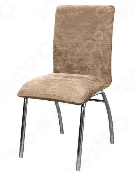 Натяжной чехол на стул Медежда «Лидс» чехол на мебель медежда чехол на стул с юбкой иден коричневый