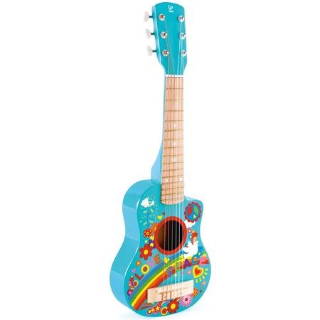 Купить Игрушка музыкальная Hape «Гитара». Рисунок: цветы