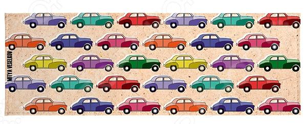 Обложка для студенческого билета Mitya Veselkov «Цветные машинки» обложка для студенческого билета mitya veselkov ежик ночью