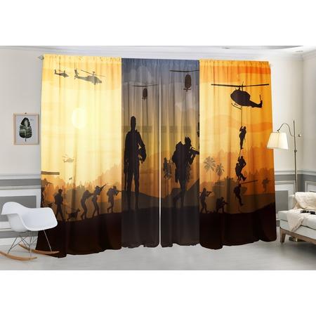 Фотокомплект: тюль и шторы ТамиТекс «Поле боя»