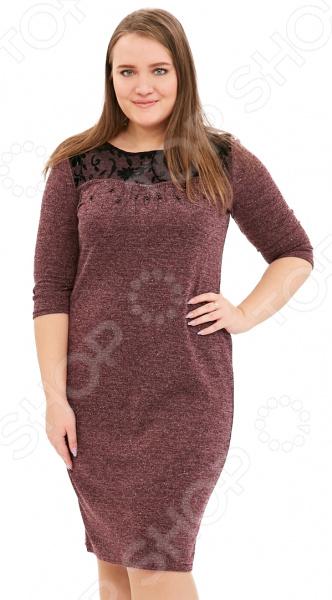 Платье LORICCI «Женские слабости». Цвет: бордовый платье loricci белые ночи цвет серый
