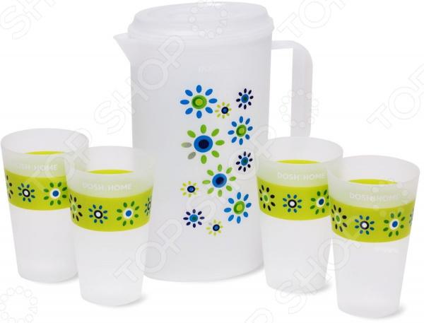 Набор: кувшин и 4 стакана DOSH HOME Grus набор grus кувшин и 4 стакана quelle dosh home 1011568
