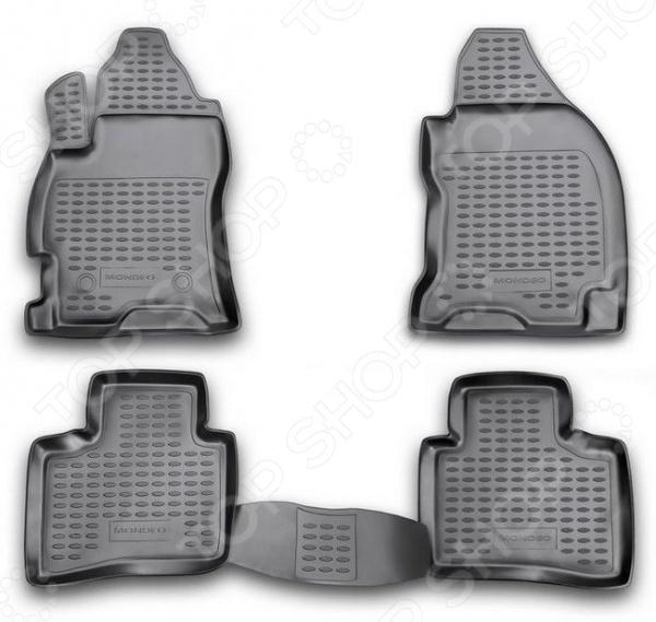 Комплект ковриков в салон автомобиля Novline-Autofamily Ford Ranger 4 doors 2011 комплект ковриков в салон автомобиля novline autofamily ford mondeo 2011 2014 цвет бежевый