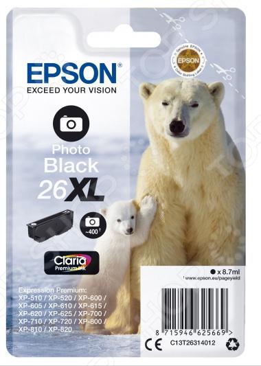 Картридж для фотопечати повышенной емкости Epson T2631 для XP-600/605/700/800/710/820 цены
