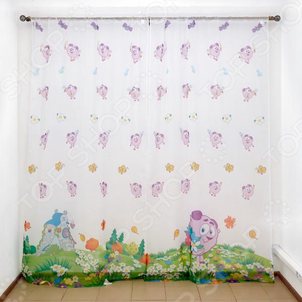 фото Комплект тюля детского Сирень «Романтичный Бараш», Портьеры для детской комнаты