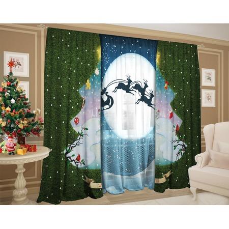 Купить Комплект: шторы и тюль ТамиТекс «Зимний денек»