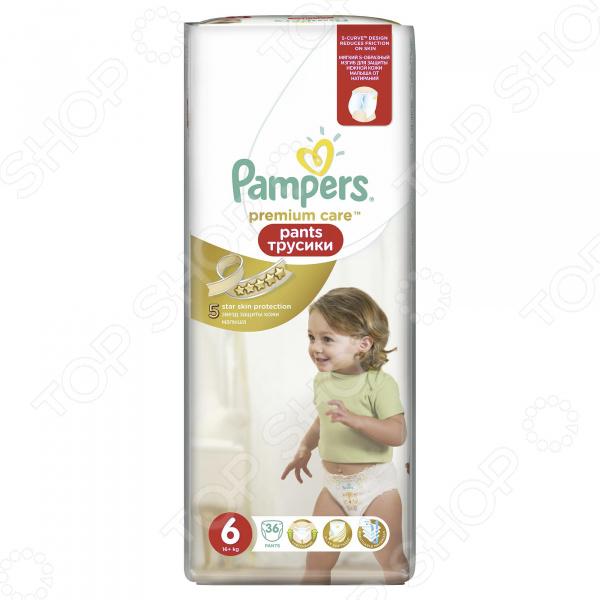 Трусики-подгузники Pampers Premium Care Pants 16 кг+, размер 6, 36 шт.