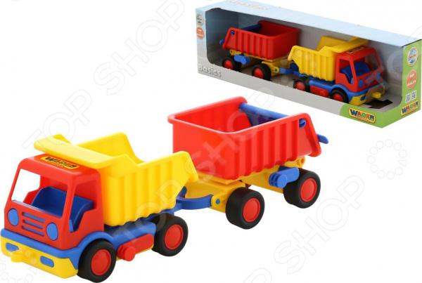 Фото - Машинка игрушечная Wader «Базик. Самосвал с прицепом» машинка самосвал с прицепом технопарк металлическая