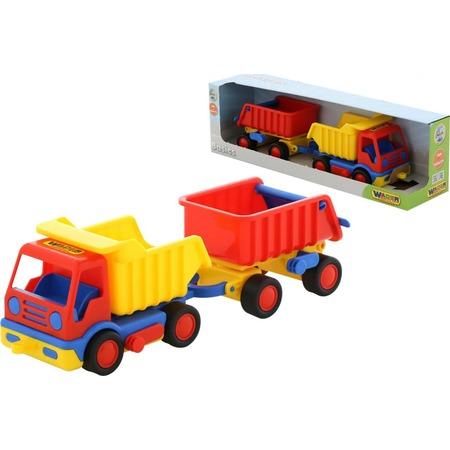 Купить Машинка игрушечная Wader «Базик. Самосвал с прицепом»