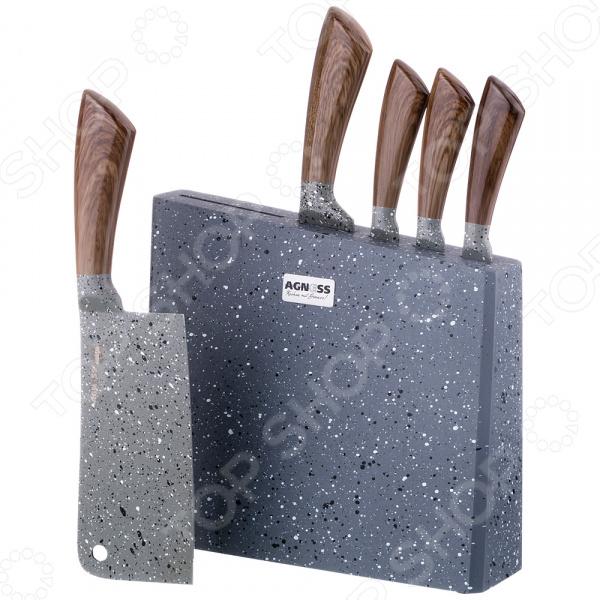 Набор ножей Agness 911-605 набор кухонных ножей квартет кизляр