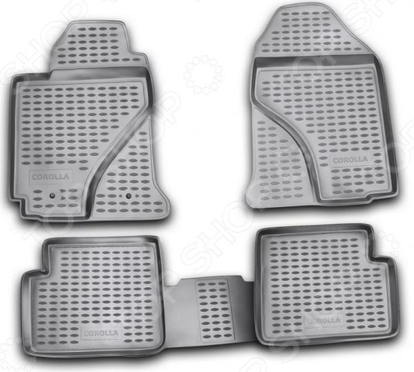 Комплект ковриков в салон автомобиля Novline-Autofamily Toyota Corolla 2002-2007 комплект ковриков в салон автомобиля novline autofamily toyota corolla 2002 2007