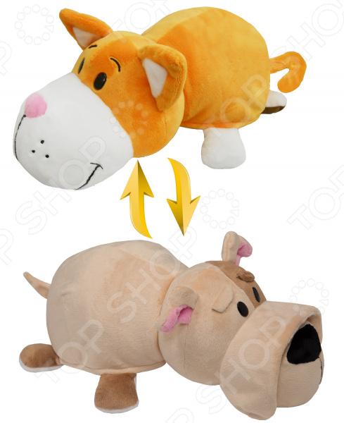 Мягкая игрушка 1 Toy «Вывернушка 2в1: Оранжевый кот-Бульдог»