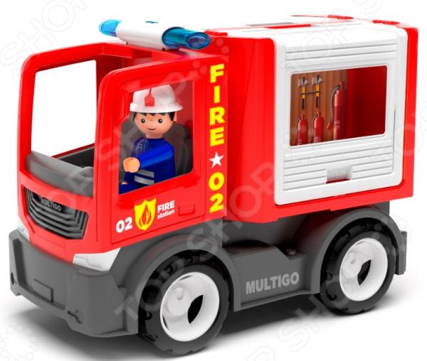 Машинка игровая EFKO «Пожарная машина для команды с водителем»