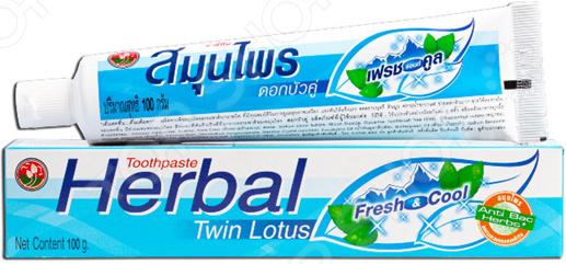 Herbal Fresh&Cool Зубная паста антибактериальная Twin Lotus Herbal Fresh&Cool