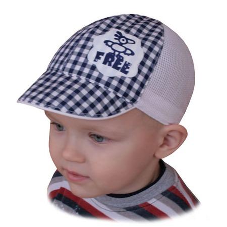 Купить Кепи для мальчика Shapochka Free ЯВ121026. Цвет: белый, темно-синий