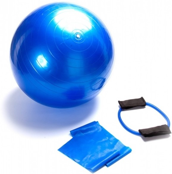 Набор: мяч гимнастический, эспандер и эластичный бинт Bradex SF 0070