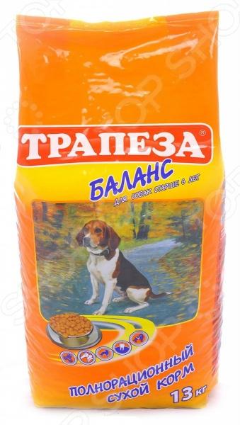 Корм сухой для пожилых собак Трапеза «Баланс»