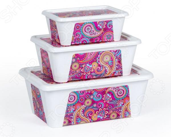Набор контейнеров для продуктов Полимербыт SGHPBKP74 «Пейсли»