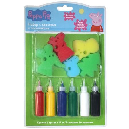 Набор красок со спонжиками Peppa Pig 31074. В ассортименте