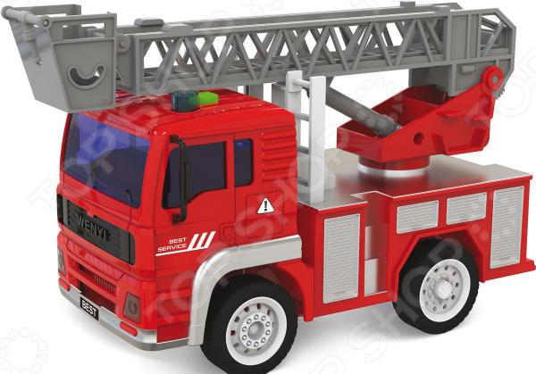 Машинка игрушечная Taiko «Пожарная машина c выдвижной лестницей» цены
