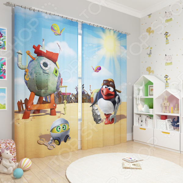 фото Фотошторы блэкаут детские Сирень «Пин», Портьеры для детской комнаты