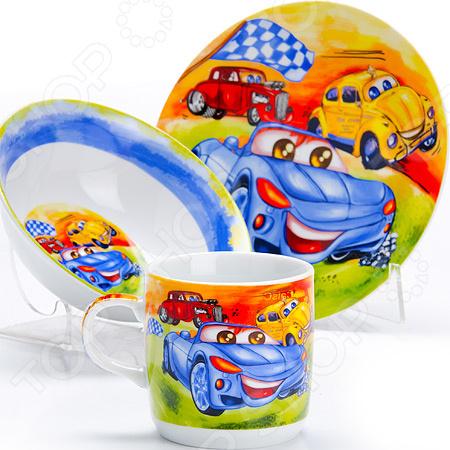 Набор посуды для детей Loraine LR-27332 «Авто»