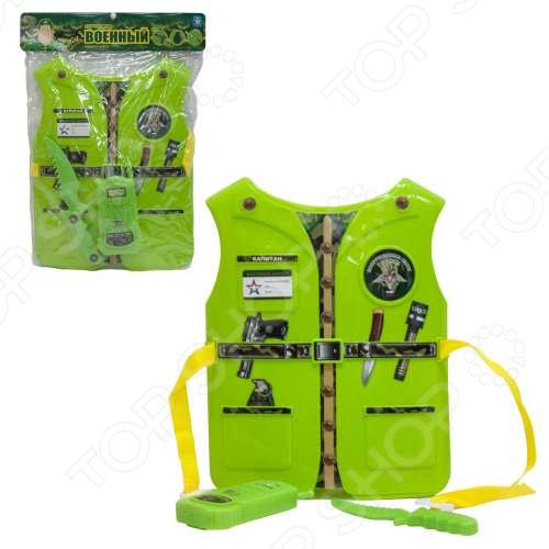 Игровой набор для ребенка 1 Toy «Костюм Профи с жилетом - Военный» набор 1toy костюм профи с жилетом медсестра 39х28х4 см 3 предмета размер жилета 26х32 0 5 см