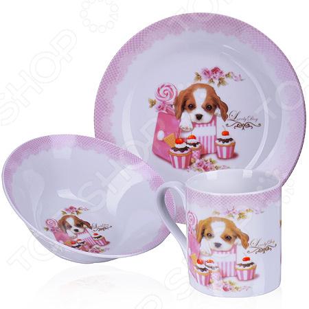 Набор посуды для детей Loraine LR-27126 «Собачка»