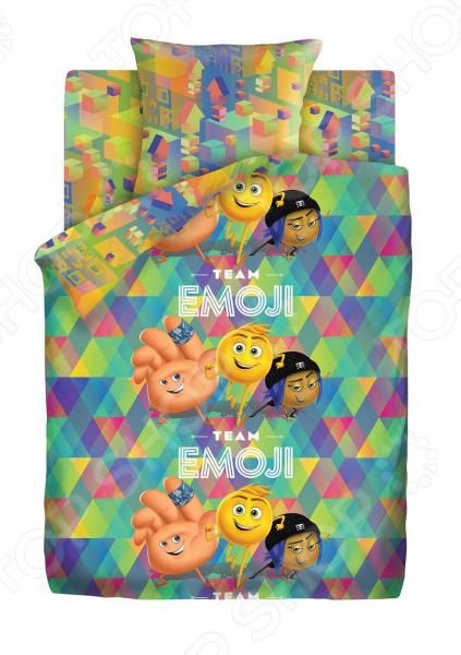 Детский комплект постельного белья Непоседа «Команда Эмоджи»