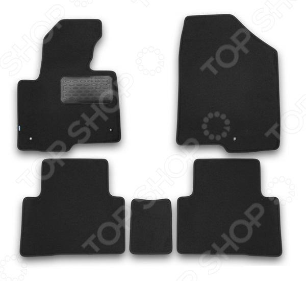 цена на Комплект ковриков в салон автомобиля Klever Hyundai Santa Fe 2012 Premium