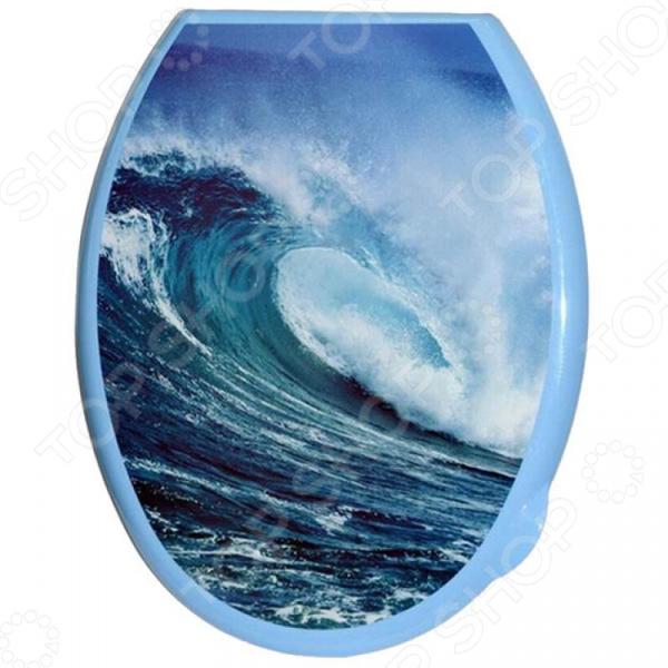 Сиденье-крышка для унитаза Violet 1110 «Волна» крышка сиденье для унитаза gsi modo ms77cn11