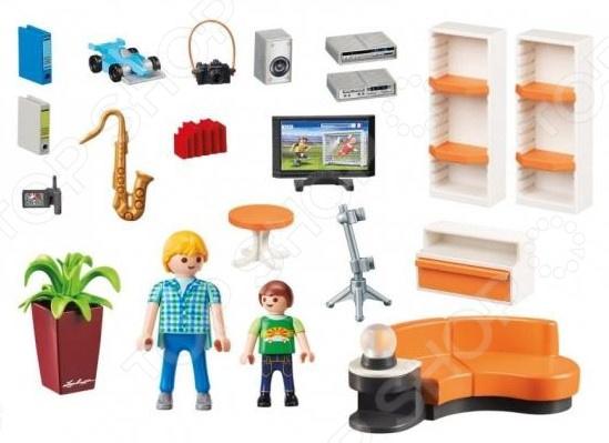 Домик кукольный с аксессуарами Playmobil «Жилая комната»