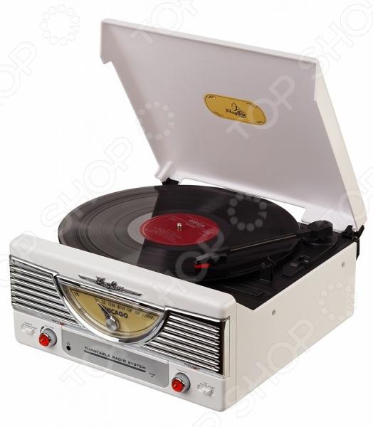 Ретро-проигрыватель виниловых пластинок Playbox PB-103 станет чудесным подарком для истинных меломанов и ценителей музыкального искусства. Ни для кого не секрет, что грампластинки это не просто дань ретро-моде и предмет собирательства многих коллекционеров, но еще и прекрасная возможность насладиться всей насыщенностью и глубиной звучания, что не под силу ни одному из цифровых аудионосителей. Проигрыватель выполнен в стильном ретро дизайне и снабжен радиоприемником с АМ FM FM ST диапазоном. Дисплей настройки радиочастот выполнен в форме спидометра и расположен на фронтальной стороне прибора. Помимо прочего, проигрыватель оснащен встроенной FM-антенной, динамиками и гнездом для наушников 3,5 мм.