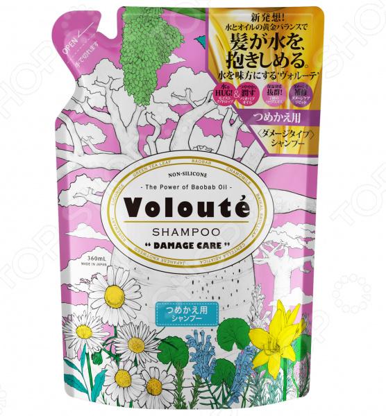 Шампунь бессиликоновый Japan Gateway в мягкой упаковке Voloute «Глубокое восcтановление»