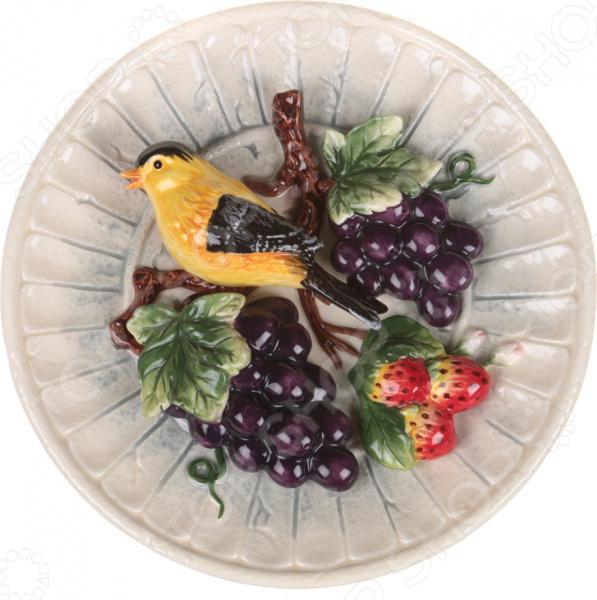 Тарелка декоративная Lefard «Синица и виноград» 59-057 тарелка декоративная lefard 59 565
