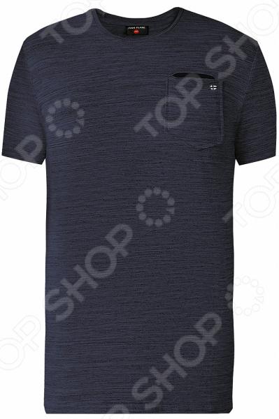 Футболка мужская Finn Flare S18-42037. Цвет: синий меланж itr8307 s18 tr8 sop 4