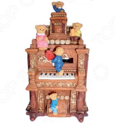 Музыкальная шкатулка Crystal Deco «Мишки на пианино»