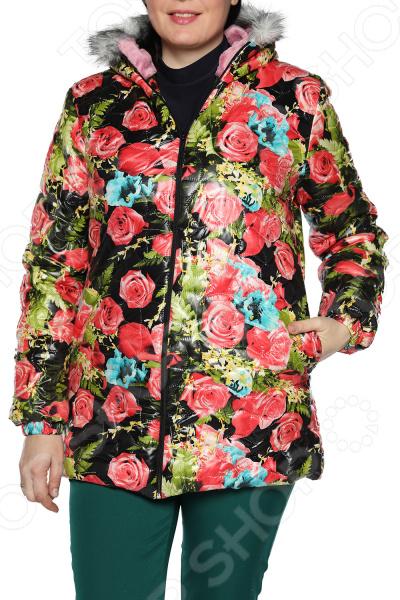 цены Куртка ТРЕНД «Аллея цветов». Цвет: черный, алый