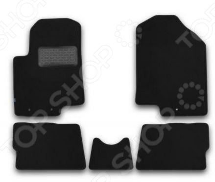 Комплект ковриков в салон автомобиля Klever KIA Soul 2008-2013 Premium
