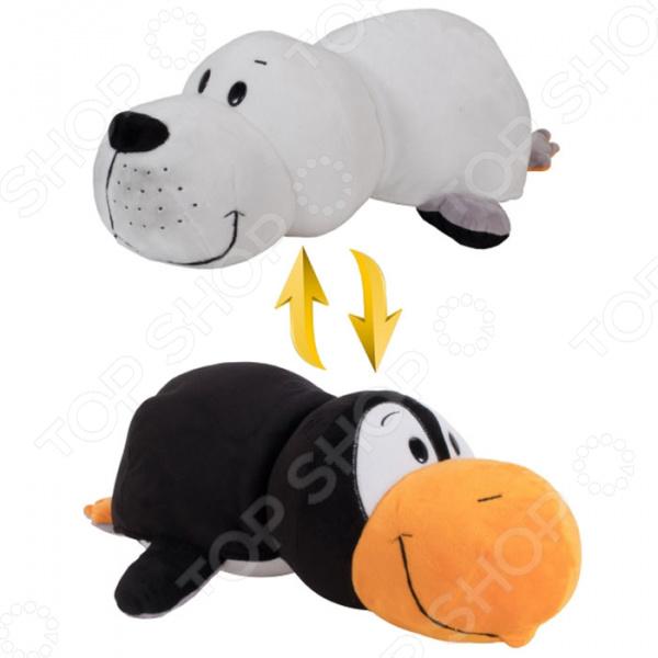 Мягкая игрушка 1 Toy «Вывернушка 2в1: Пингвин-Морской котик»